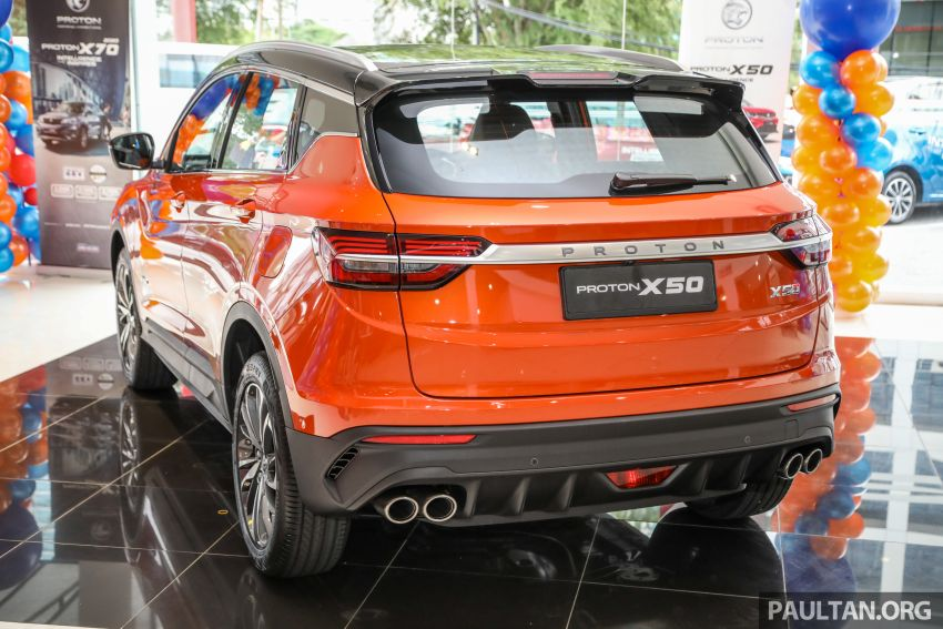 Proton X50 SUV launched – RM79,200 to RM103,300 Image #1199829