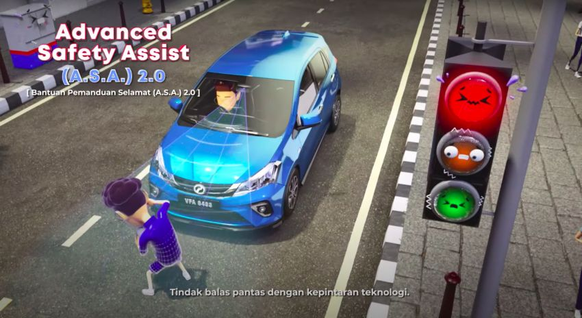 Perodua safety features illustrated in animation video Image #1190572