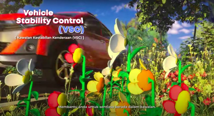 Perodua safety features illustrated in animation video Image #1190582