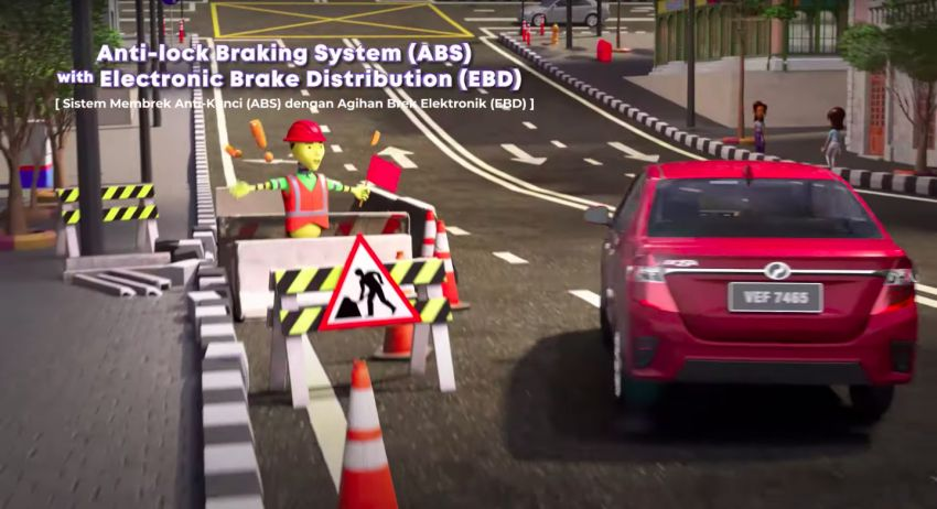 Perodua safety features illustrated in animation video Image #1190583