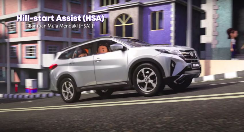 Perodua safety features illustrated in animation video Image #1190584