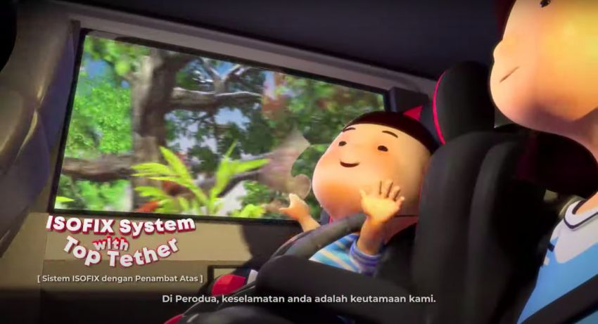 Perodua safety features illustrated in animation video Image #1190585