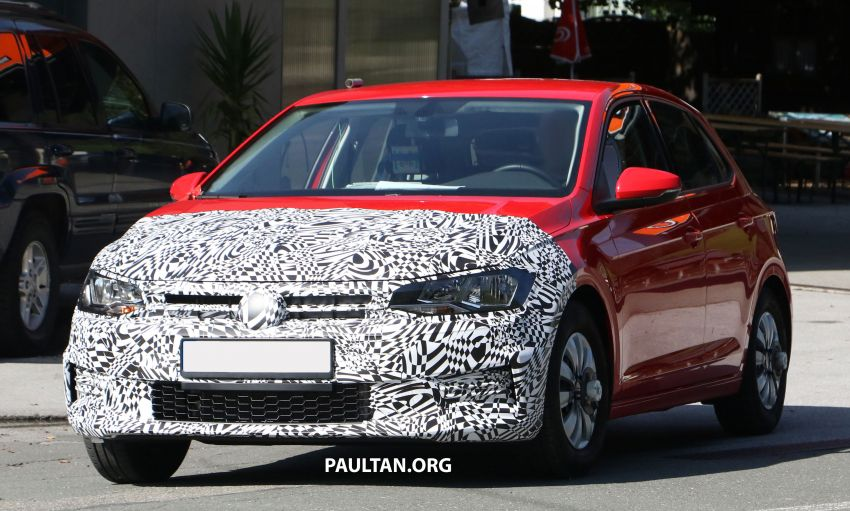SPYSHOTS: Volkswagen Polo Mk6 facelift seen testing Image #1190068