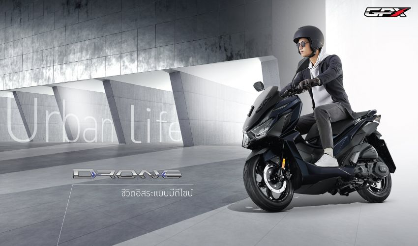 2021 GPX Drone 150 scooter launched in Thailand Image #1214579
