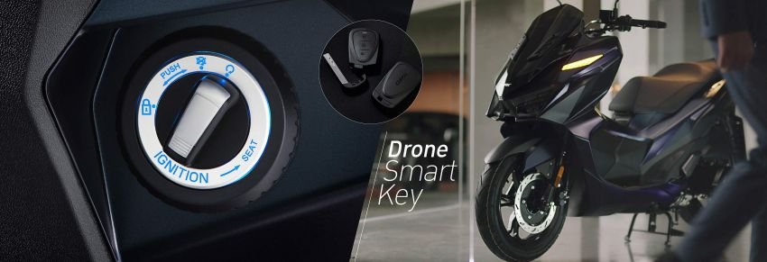 2021 GPX Drone 150 scooter launched in Thailand Image #1214584