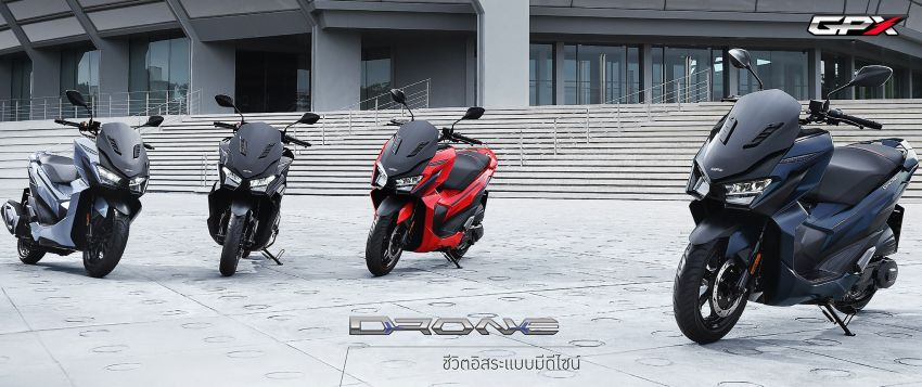 2021 GPX Drone 150 scooter launched in Thailand Image #1214568
