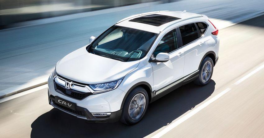 2021 Honda CR-V Hybrid updated for UK market – blue-ringed H badges, e:HEV moniker, improved kit Image #1218560