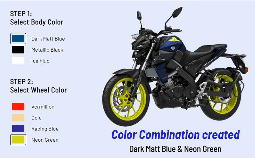 2021 Yamaha MT-15 in India, RM7,722 – single-channel ABS, 3 base colours, 11 custom colour options Image #1214698