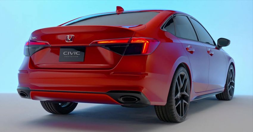 2022 Honda Civic debuts in prototype form – 11th-gen C-segment sedan previewed with all-new design Image #1212548