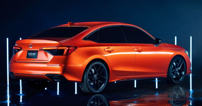 2022 Honda Civic debuts in prototype form – 11th-gen C-segment sedan previewed with all-new design Image #1211618