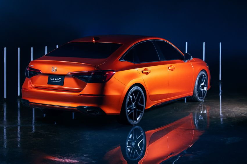 2022 Honda Civic debuts in prototype form – 11th-gen C-segment sedan previewed with all-new design Image #1211620