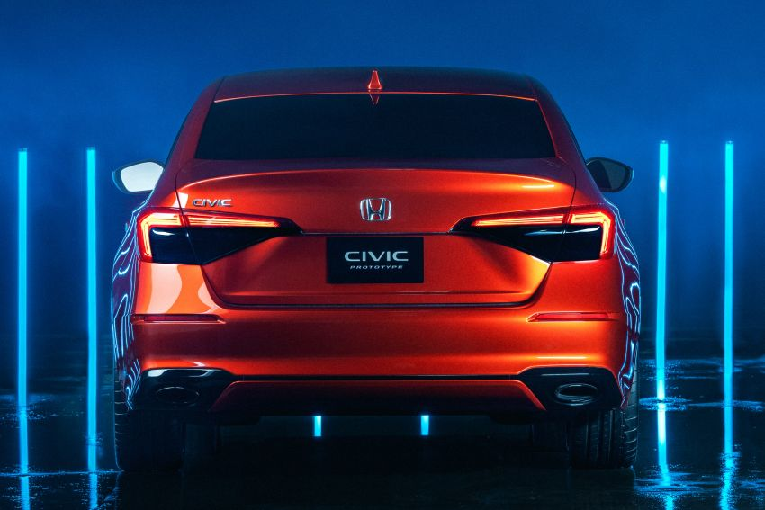 2022 Honda Civic debuts in prototype form – 11th-gen C-segment sedan previewed with all-new design Image #1211622