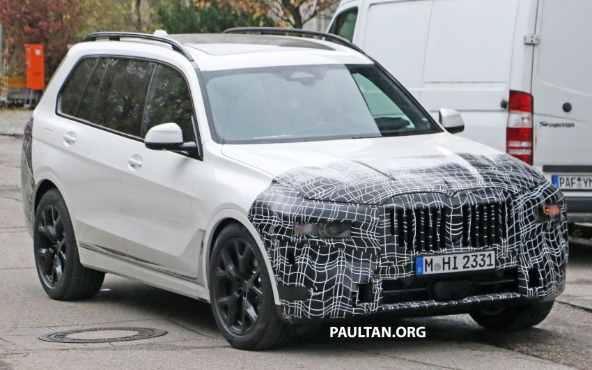SPYSHOTS: BMW X7 facelift shows radical new look Image #1218457