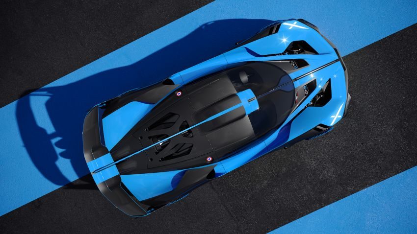 Bugatti Bolide revealed – track-only hypercar with 1,850 PS, 1,240 kg weight, 5:23.1 Nürburgring lap time Image #1202657