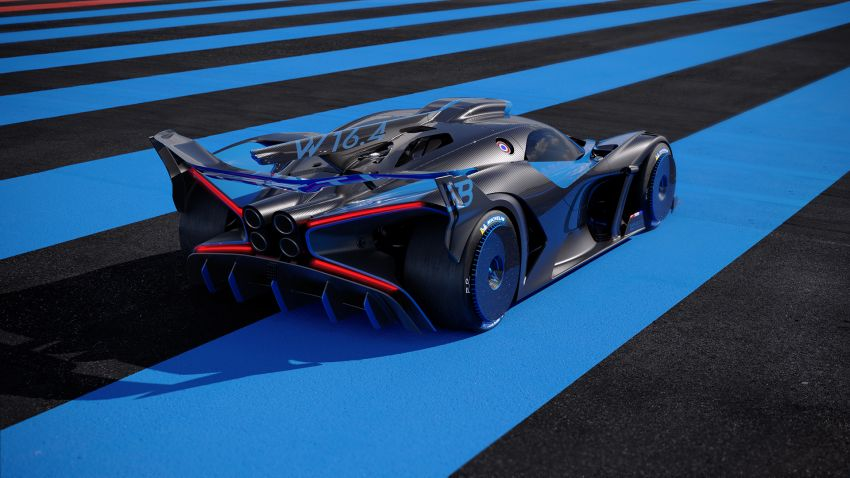 Bugatti Bolide revealed – track-only hypercar with 1,850 PS, 1,240 kg weight, 5:23.1 Nürburgring lap time Image #1202658