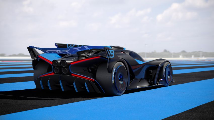 Bugatti Bolide revealed – track-only hypercar with 1,850 PS, 1,240 kg weight, 5:23.1 Nürburgring lap time Image #1202659
