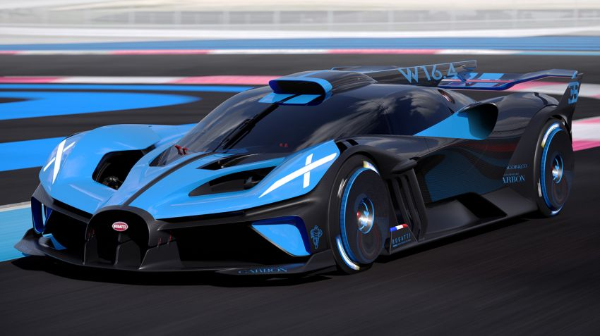 Bugatti Bolide revealed – track-only hypercar with 1,850 PS, 1,240 kg weight, 5:23.1 Nürburgring lap time Image #1202661