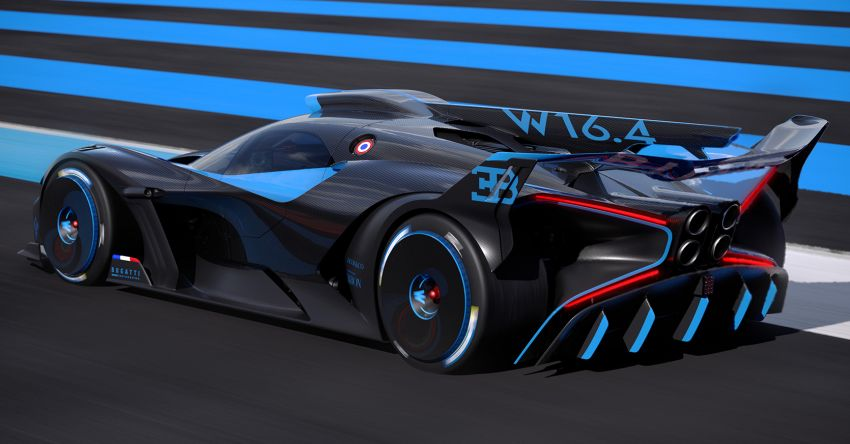 Bugatti Bolide revealed – track-only hypercar with 1,850 PS, 1,240 kg weight, 5:23.1 Nürburgring lap time Image #1202662