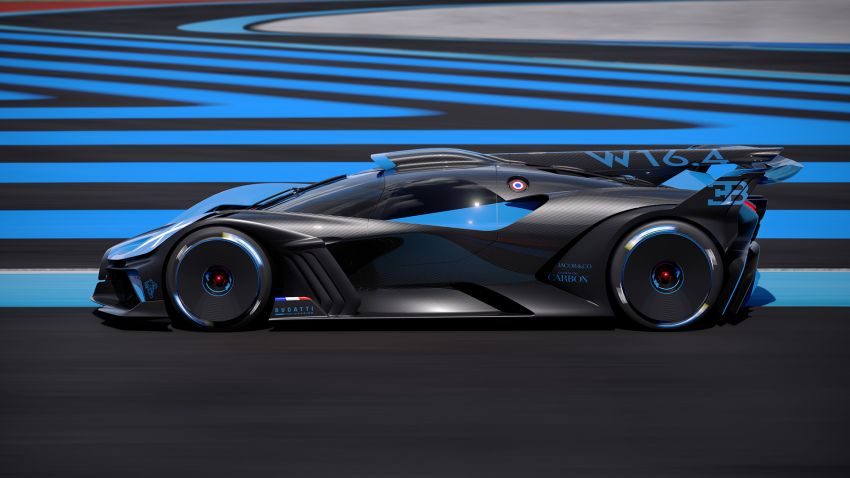 Bugatti Bolide revealed – track-only hypercar with 1,850 PS, 1,240 kg weight, 5:23.1 Nürburgring lap time Image #1202663