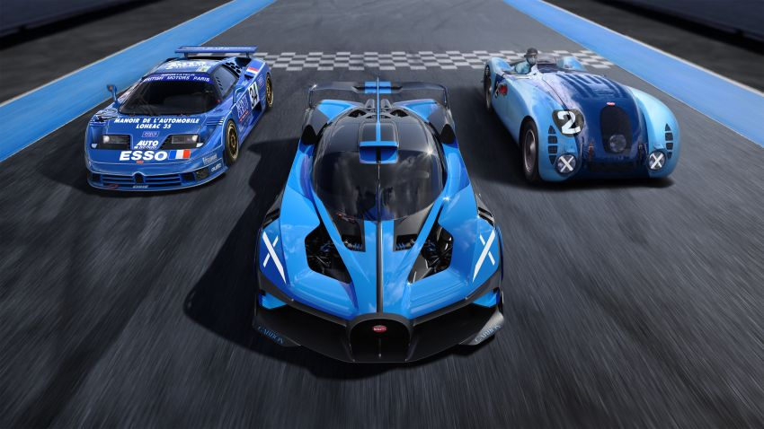 Bugatti Bolide revealed – track-only hypercar with 1,850 PS, 1,240 kg weight, 5:23.1 Nürburgring lap time Image #1202664