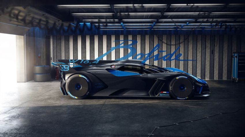Bugatti Bolide revealed – track-only hypercar with 1,850 PS, 1,240 kg weight, 5:23.1 Nürburgring lap time Image #1202665
