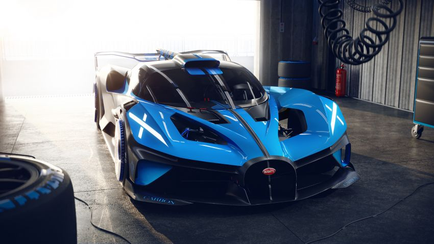 Bugatti Bolide revealed – track-only hypercar with 1,850 PS, 1,240 kg weight, 5:23.1 Nürburgring lap time Image #1202666