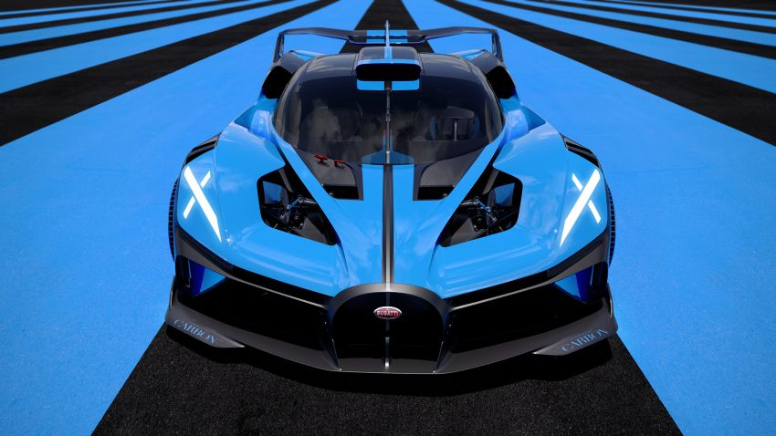 Bugatti Bolide revealed – track-only hypercar with 1,850 PS, 1,240 kg weight, 5:23.1 Nürburgring lap time Image #1202649