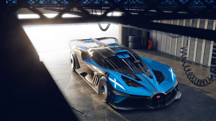 Bugatti Bolide revealed – track-only hypercar with 1,850 PS, 1,240 kg weight, 5:23.1 Nürburgring lap time Image #1202667
