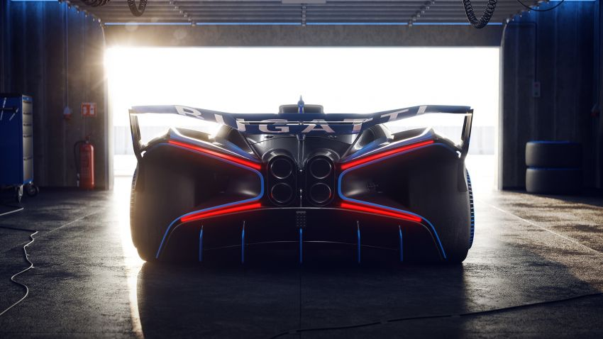 Bugatti Bolide revealed – track-only hypercar with 1,850 PS, 1,240 kg weight, 5:23.1 Nürburgring lap time Image #1202668