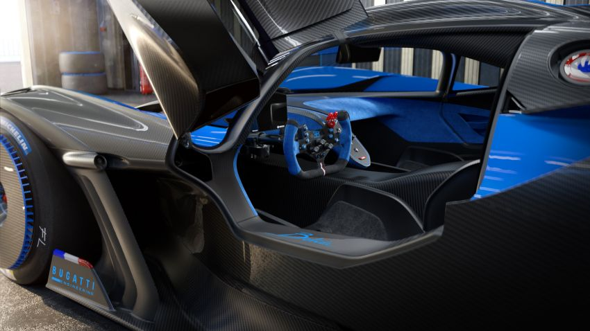 Bugatti Bolide revealed – track-only hypercar with 1,850 PS, 1,240 kg weight, 5:23.1 Nürburgring lap time Image #1202669