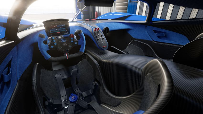 Bugatti Bolide revealed – track-only hypercar with 1,850 PS, 1,240 kg weight, 5:23.1 Nürburgring lap time Image #1202670
