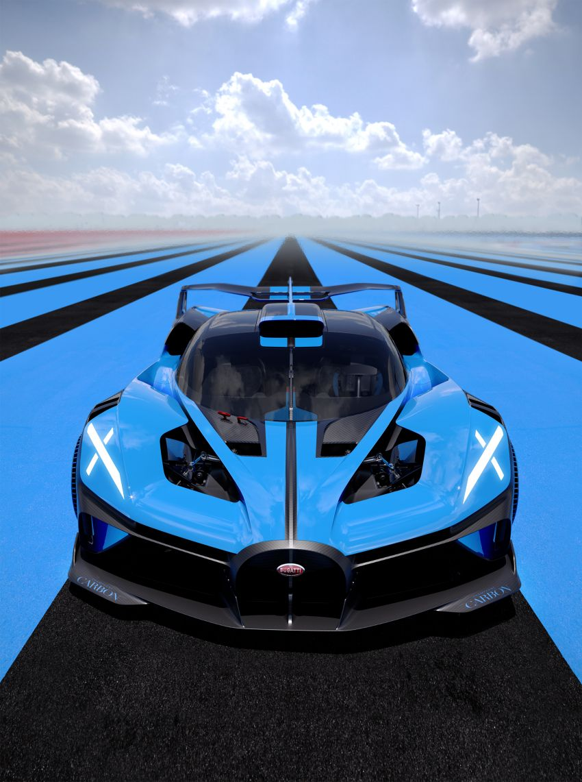 Bugatti Bolide revealed – track-only hypercar with 1,850 PS, 1,240 kg weight, 5:23.1 Nürburgring lap time Image #1202650