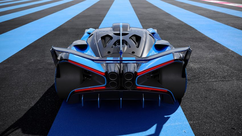Bugatti Bolide revealed – track-only hypercar with 1,850 PS, 1,240 kg weight, 5:23.1 Nürburgring lap time Image #1202651