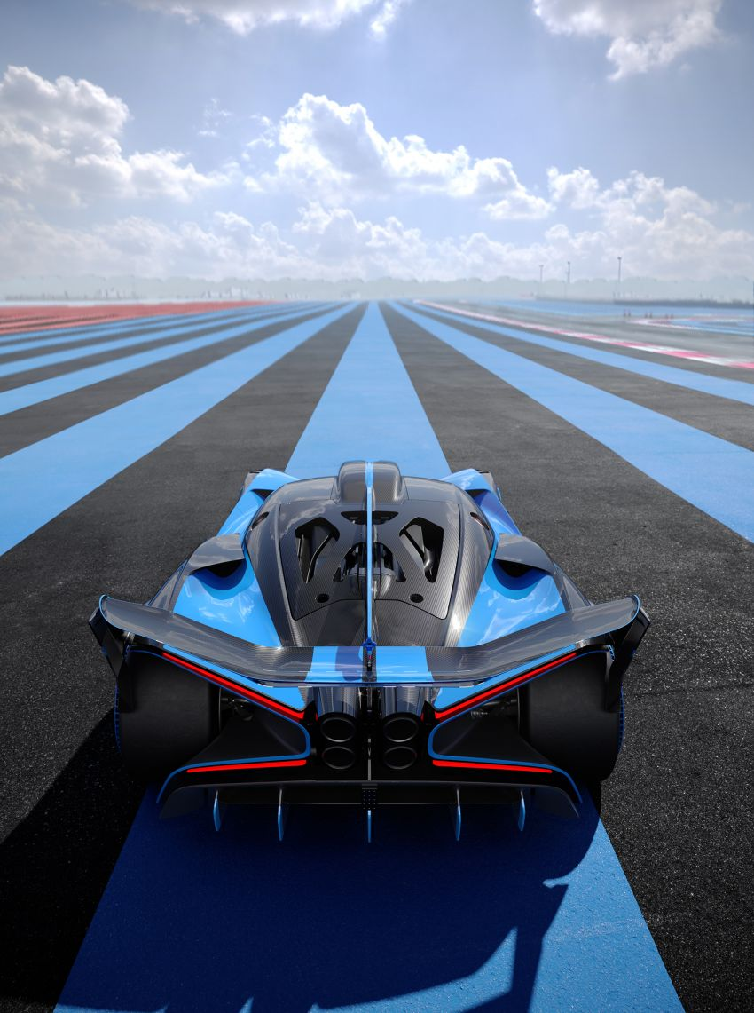 Bugatti Bolide revealed – track-only hypercar with 1,850 PS, 1,240 kg weight, 5:23.1 Nürburgring lap time Image #1202652