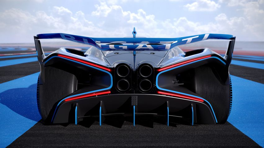 Bugatti Bolide revealed – track-only hypercar with 1,850 PS, 1,240 kg weight, 5:23.1 Nürburgring lap time Image #1202653