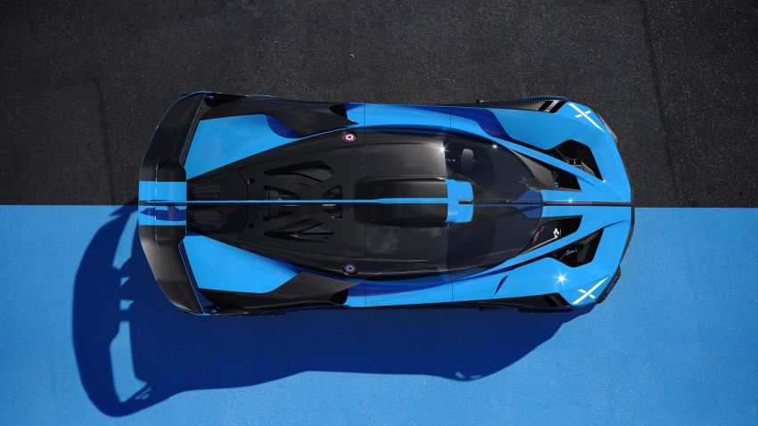Bugatti Bolide revealed – track-only hypercar with 1,850 PS, 1,240 kg weight, 5:23.1 Nürburgring lap time Image #1202654