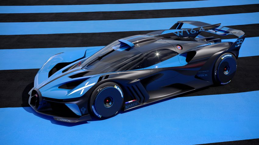 Bugatti Bolide revealed – track-only hypercar with 1,850 PS, 1,240 kg weight, 5:23.1 Nürburgring lap time Image #1202655