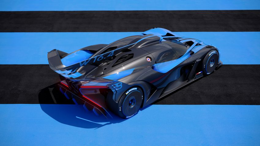 Bugatti Bolide revealed – track-only hypercar with 1,850 PS, 1,240 kg weight, 5:23.1 Nürburgring lap time Image #1202656