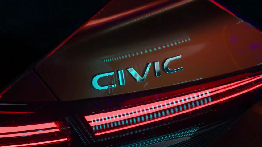 Eleventh-generation Honda Civic prototype gets teased – official debut to take place on November 17 Image #1209004