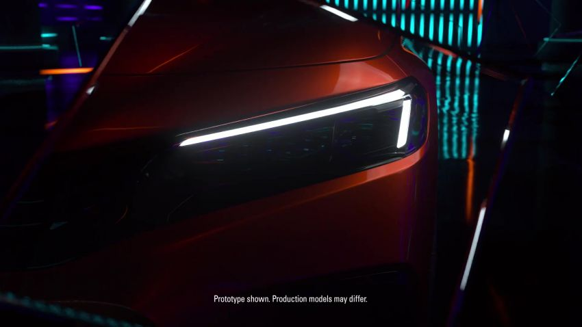 Eleventh-generation Honda Civic prototype gets teased – official debut to take place on November 17 Image #1208994