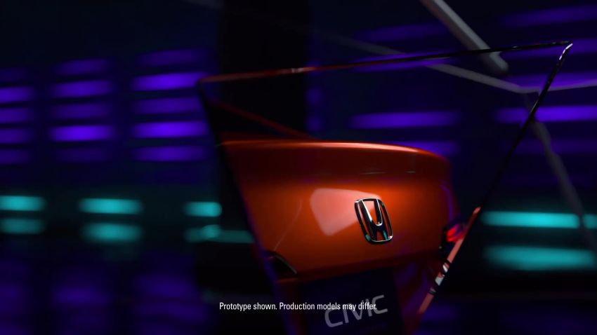 Eleventh-generation Honda Civic prototype gets teased – official debut to take place on November 17 Image #1208995