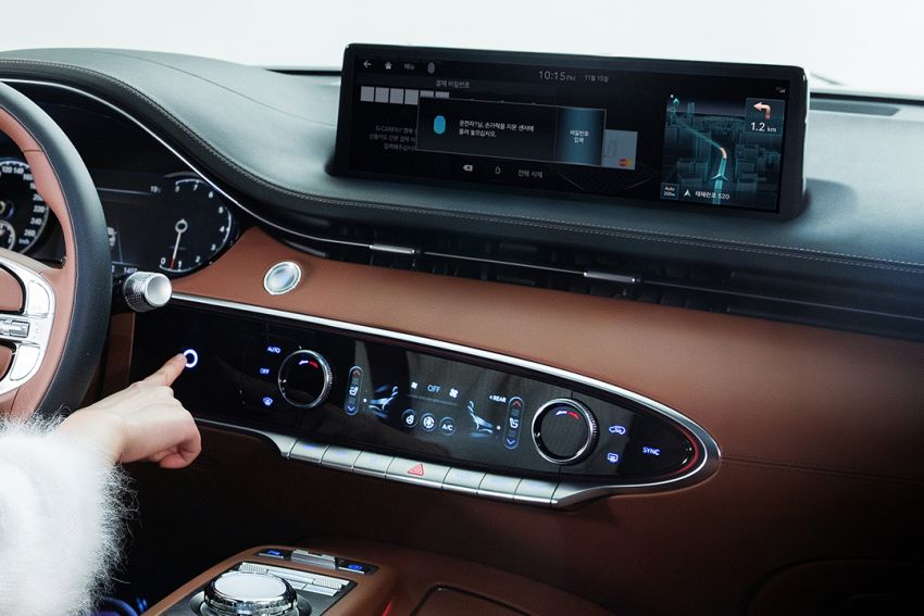 Genesis GV70 SUV to be equipped with fingerprint scanner, radar sensor to detect baby's breathing Image #1218006