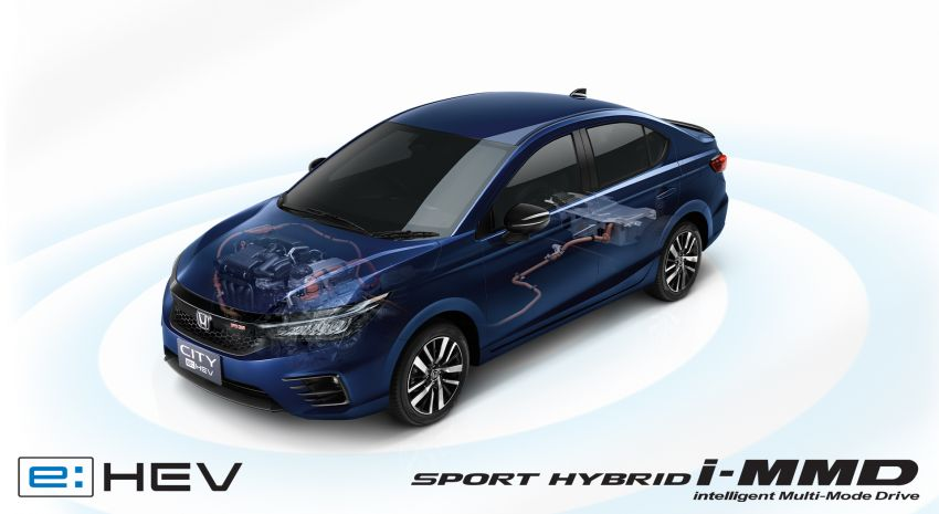 Honda City e:HEV RS launched in Thailand – first in ASEAN, 27.3 km/l, new Obsidian Blue Pearl, RM113,100 Image #1215944