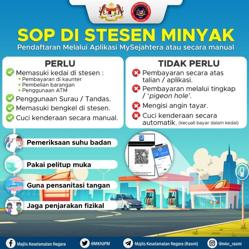 MySejahtera scan to pump fuel – MKN confirms that no scanning is needed for refuelling if paying at the pump Image #1209789