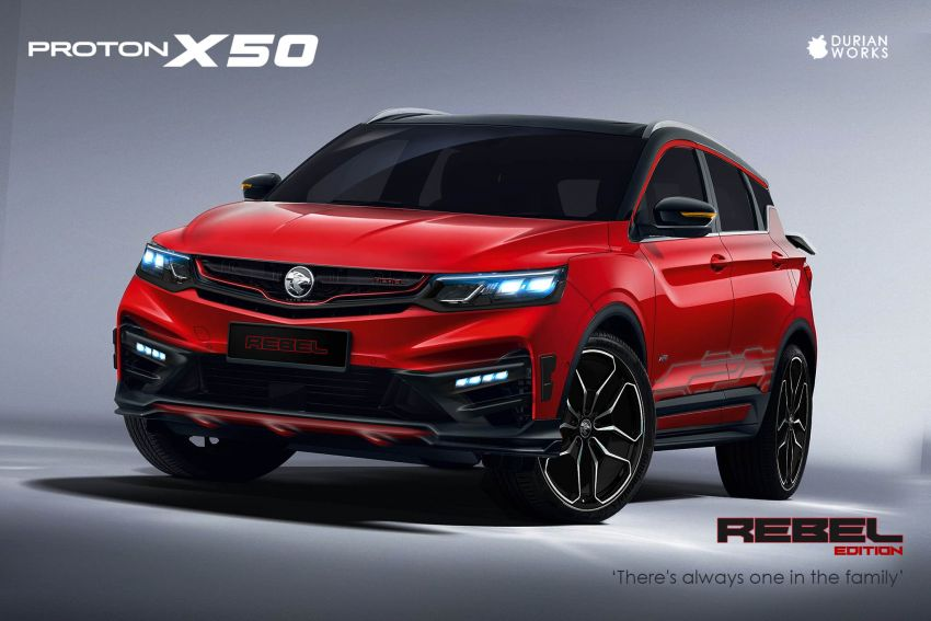 Proton X50 gets customised virtually by Durian Works Image #1211028