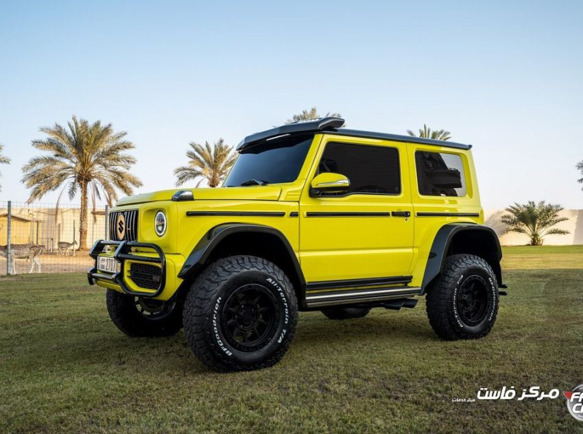 Suzuki Jimny with G-Class conversion kit takes on the Mercedes-Benz G500 4×4² – look at the size difference! Image #1218165