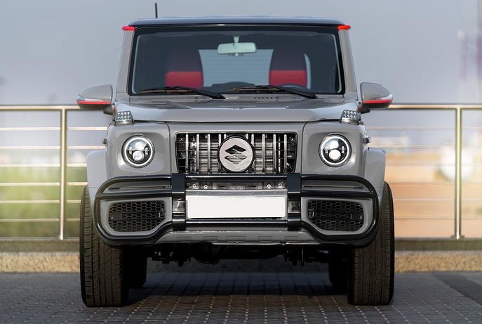 Suzuki Jimny with G-Class conversion kit takes on the Mercedes-Benz G500 4×4² – look at the size difference! Image #1218180