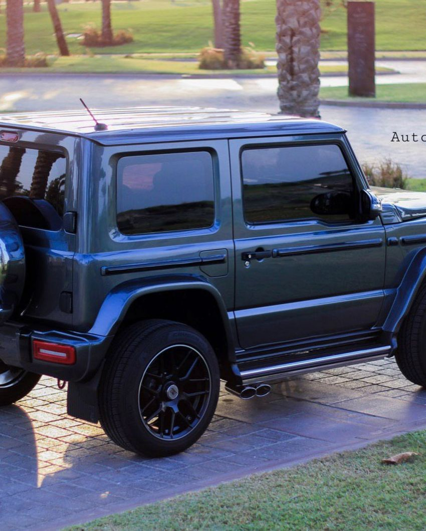 Suzuki Jimny with G-Class conversion kit takes on the Mercedes-Benz G500 4×4² – look at the size difference! Image #1218190