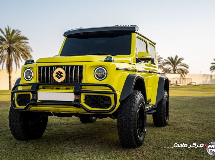 Suzuki Jimny with G-Class conversion kit takes on the Mercedes-Benz G500 4×4² – look at the size difference! Image #1218168