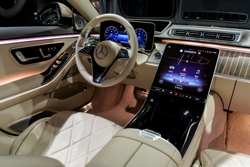 Z223 Mercedes-Maybach S-Class debuts – ultra-posh, tech-loaded flagship limo with 3,396 mm wheelbase Image #1214211